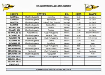 horarios-liga-amistosos-futbol-base-club-portugalete-23-24-feb-2019