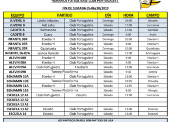 Horarios partidos-v191005-2