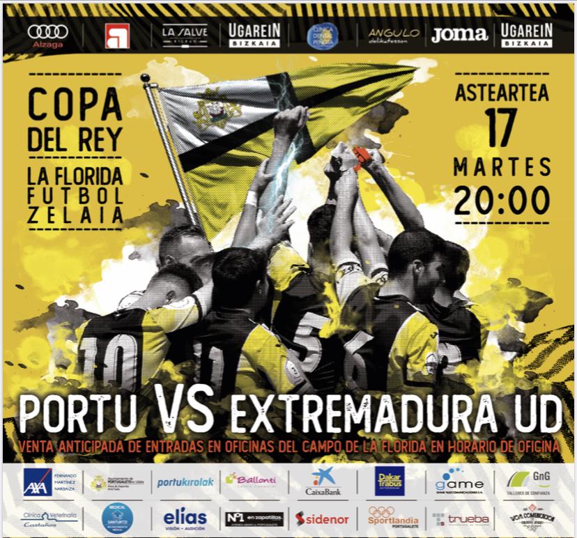 cartel-partido-copa-del-rey-club-portugalete-extremadura-2019