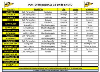 horarios-partidos-portubase-18-19-01-2020